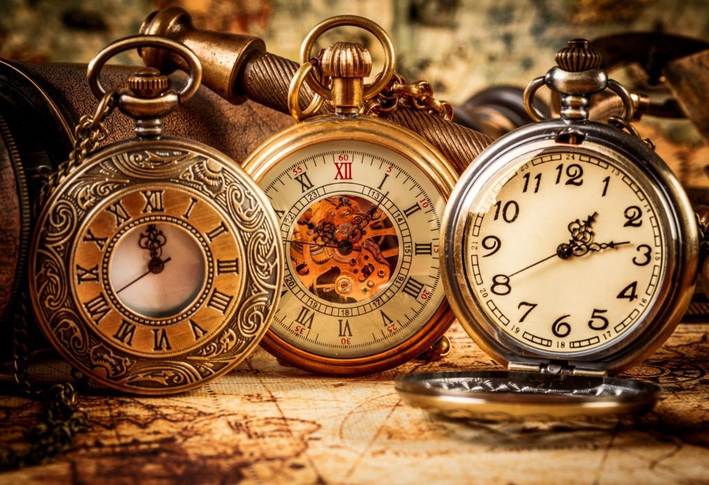 collections of antique pocket watches